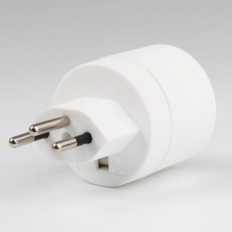 Lampen Schutzkontakt-Stecker weiß Schweiz 3-polig 10A//250V