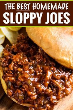 The BEST Homemade Sloppy Joes - The Chunky Chef Pe