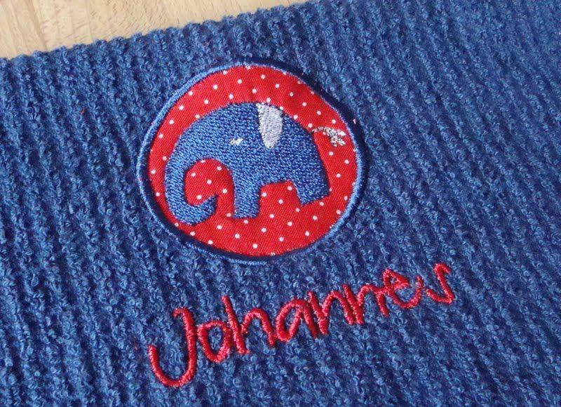 Lustige Elefanten als Applikationen für die Stickmaschine.