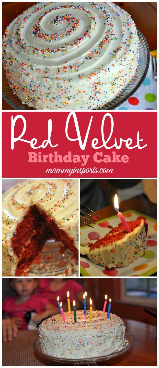 Looking For A Simple Yet Decadent Recipe Red Velvet Birthday Cake Try This So Much Easier Than I Thought And The Swirl Sprinkles Add Festive