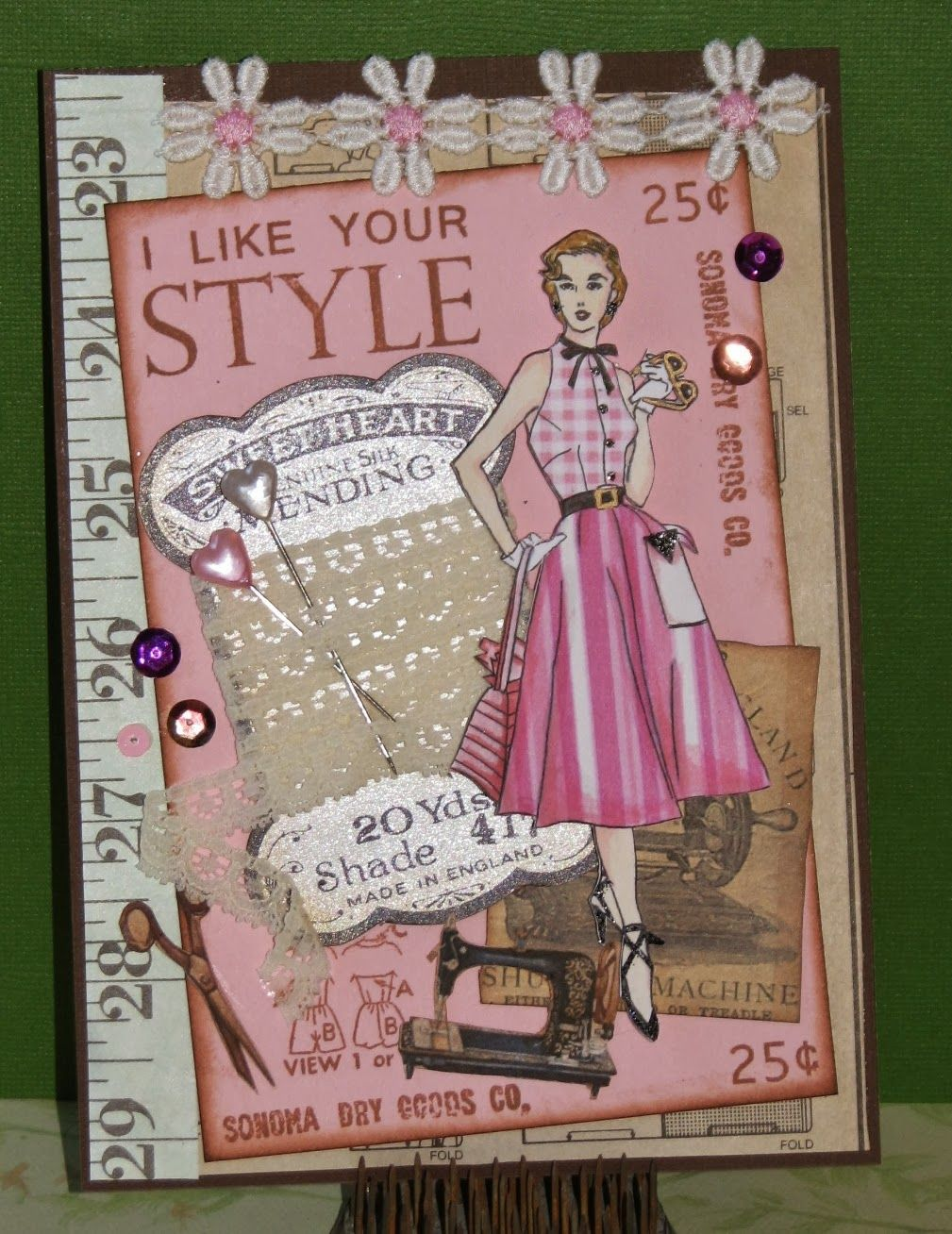 Ink Stains: Altered Pages & Pink Persimmon