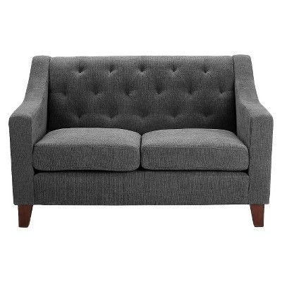 Swell Felton Tufted Loveseat Threshold Mini Move Small Sofa Machost Co Dining Chair Design Ideas Machostcouk