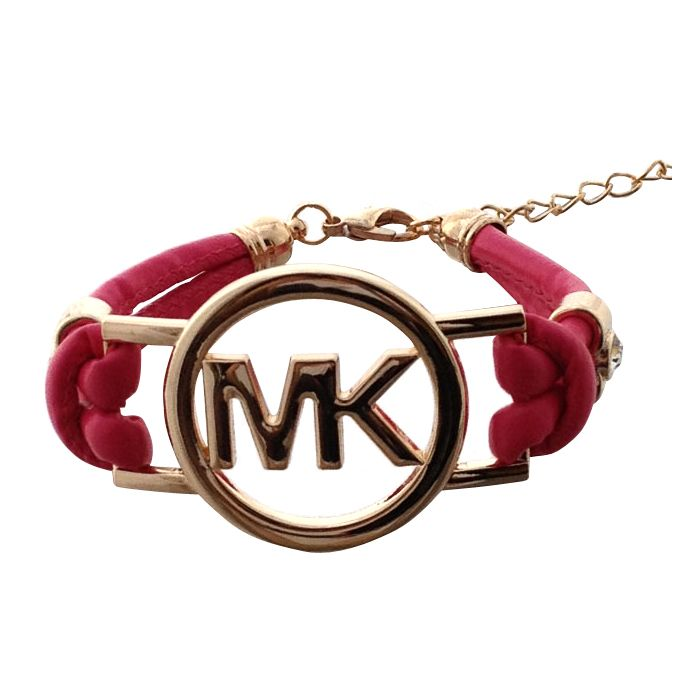 0031a922a805 Michael Kors Skinny Logo Chain Pink Accessories Outlet
