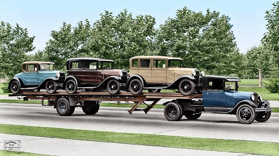 Car hauler vintage trucks classic chevy trucks ford