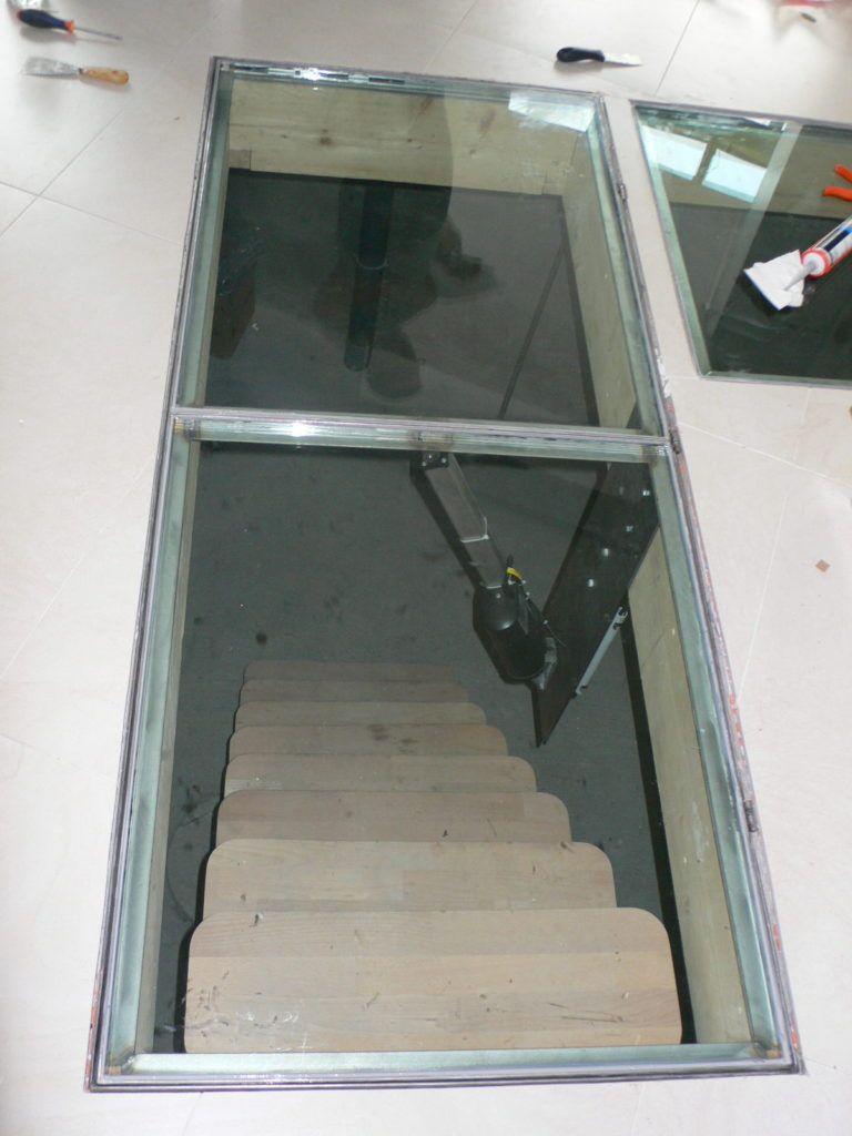 Option Motorisation D Une Trappe Trappe Escaliers De La Cave