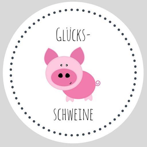 DIY selbstgemachte Geschenke aus dem Glas - Glücksschweine