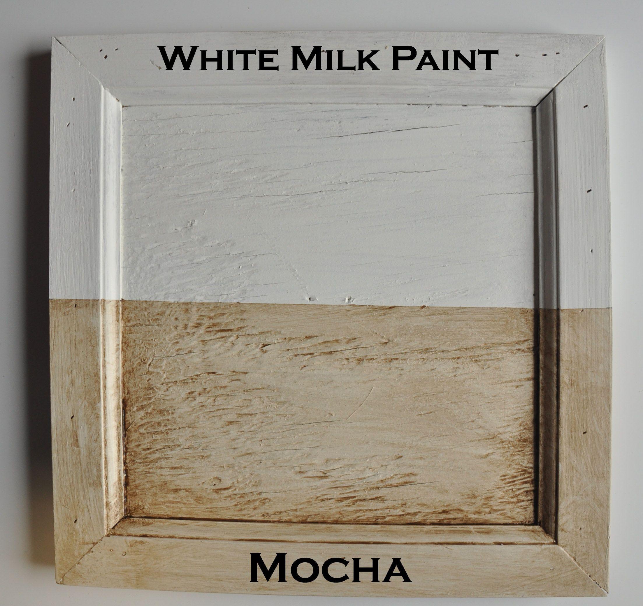 Mocha Burnishing Glaze Sealer over White Real Milk Paint ...