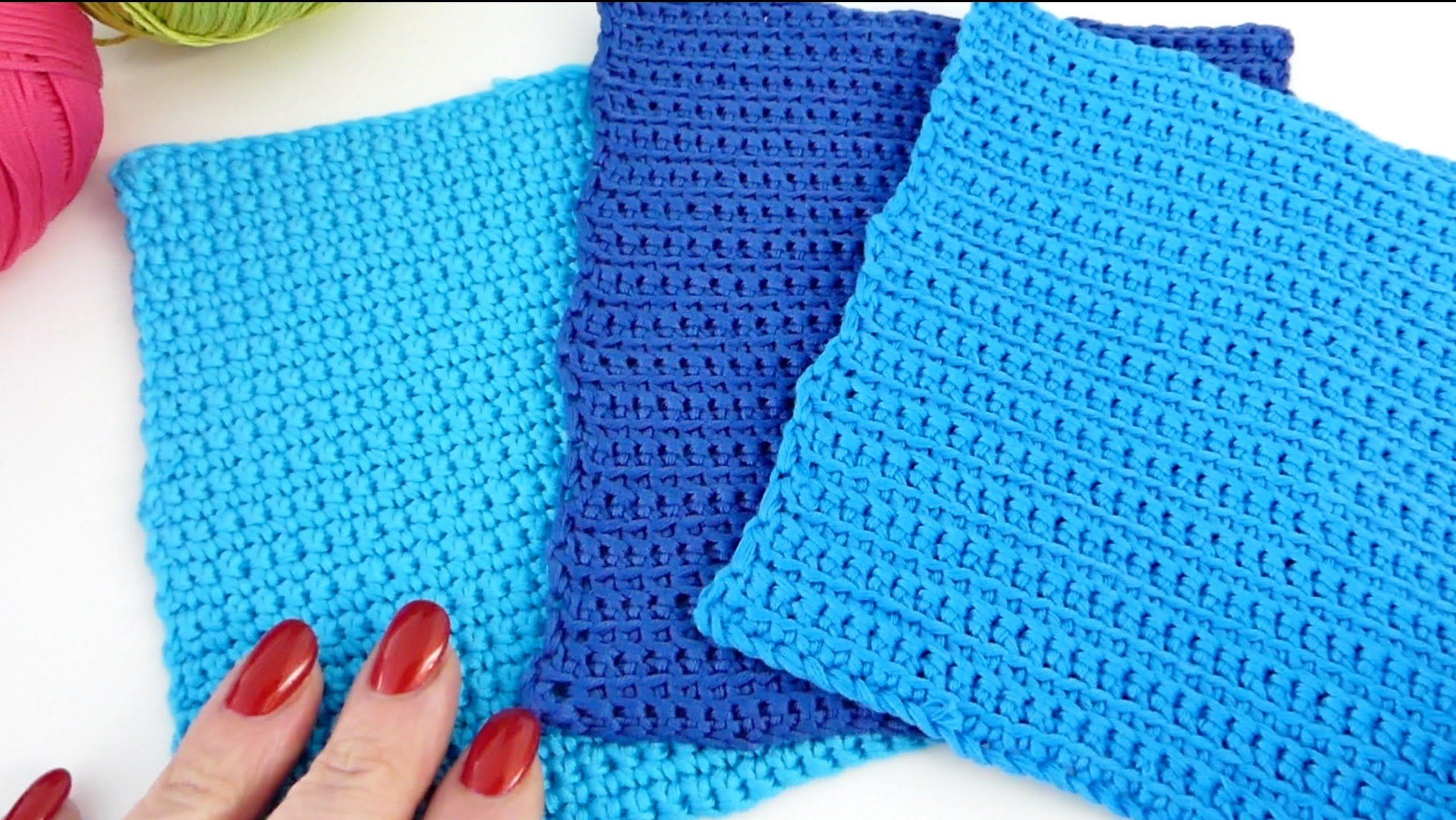 Grundmuster mit festen Maschen | Häkeln / Crochet | Pinterest | Häkeln