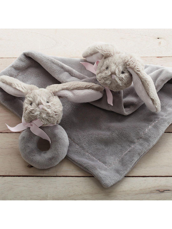 Pottery Barn Kids Plush Thumbie Bunny Comforter Pottery