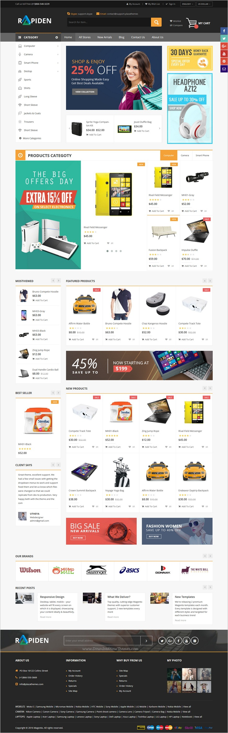 Rapiden is a modern and elegant design responsive #Magento theme for #webdesign multipurpose #eCommerce websites with 4 unique homepage layouts download now➩ https://themeforest.net/item/rapiden-mega-shop-responsive-magento-theme/19221939?ref=Datasata