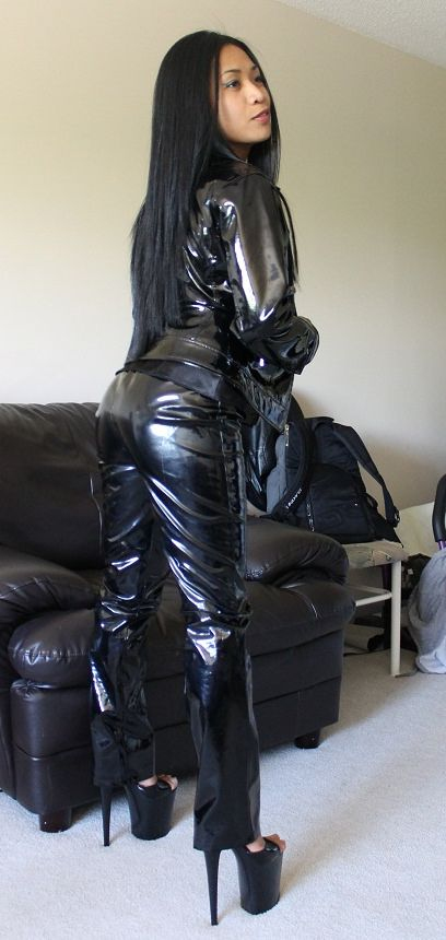 Asian Leather Girl (47) | pvc | Leather, Pants, Leather pants