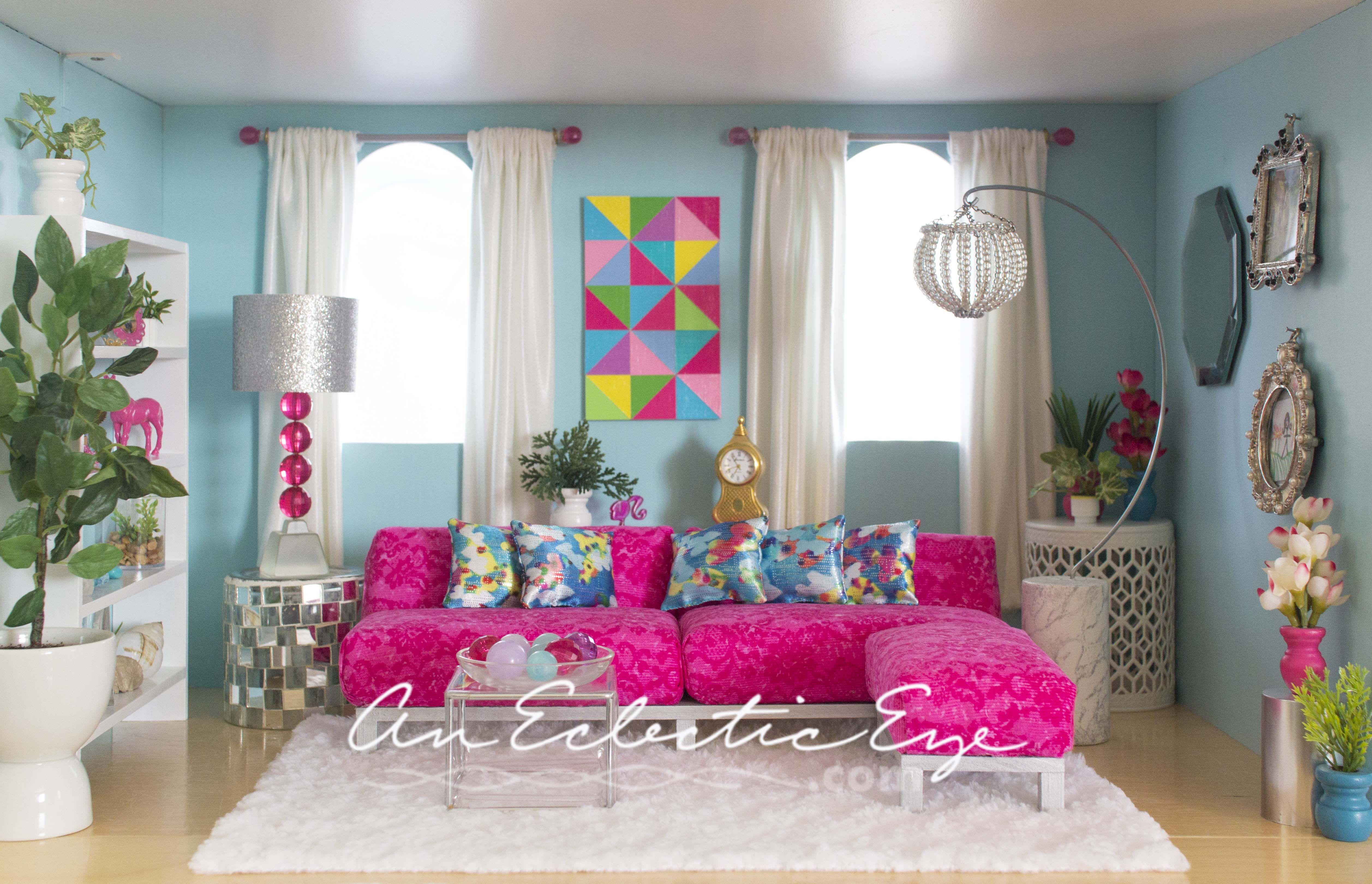 1 6 Scale Barbie Livingroom My Diys Pinterest Scale Dolls And Barbie House