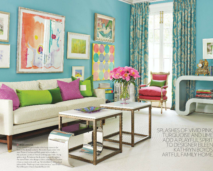 Bright Colors, Brighter Living Room