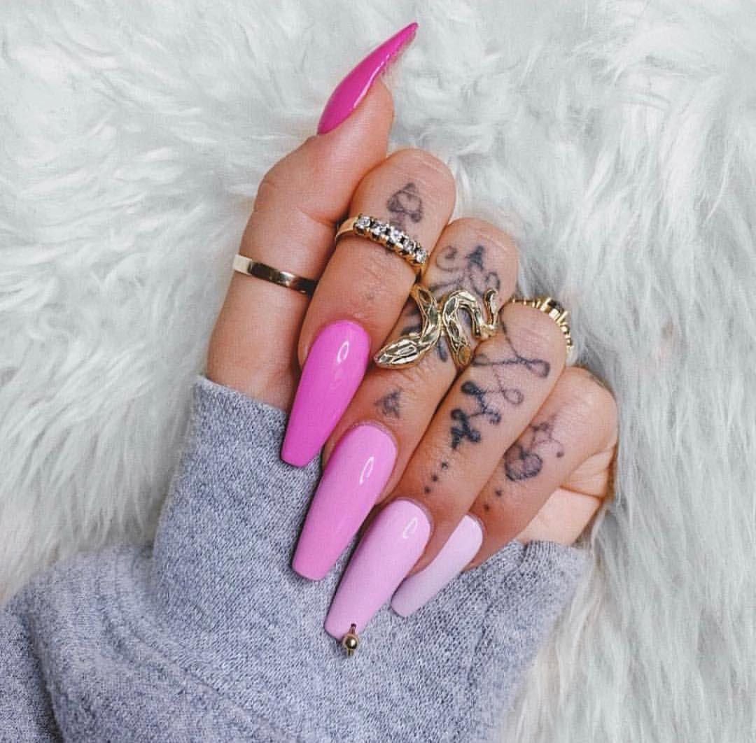 Pin by Даша Лев on N A I L S   Pink nails, Pink acrylic