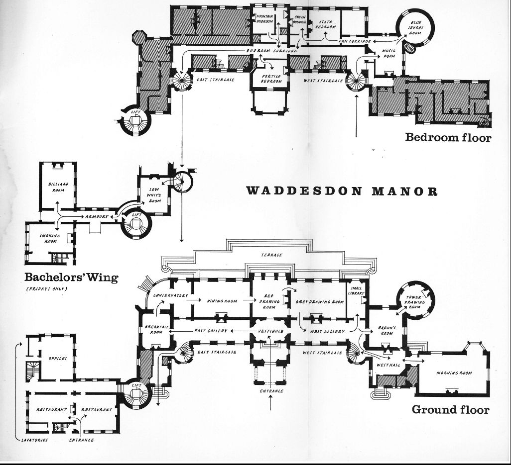Waddesdon. -- the pre-'50s configuration. the grey are ...