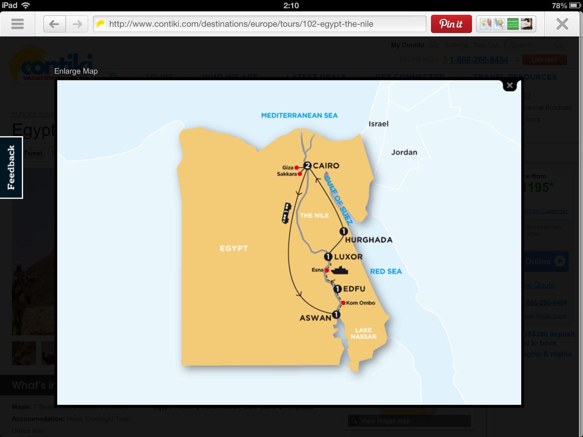 Egypt Contiki