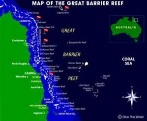 Great Barrier Reef Map View Great Barrier Reef Diving