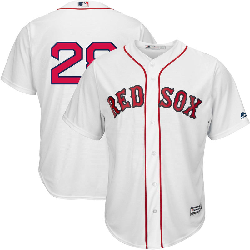 8415ce73f Men s Majestic J.D. Martinez White Boston Red Sox Home Official Cool Base  Replica Player Jersey