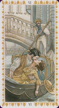 ROMANTIC TAROT - L'amoureux (Illustration : GIULIA F. MASSAGLIA)