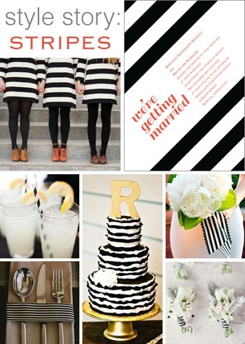 stripes! hot for weddings in 2014!