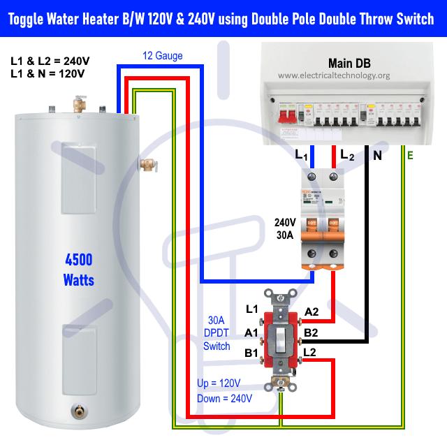 Electric Hot Water Tank Wiring Diagram