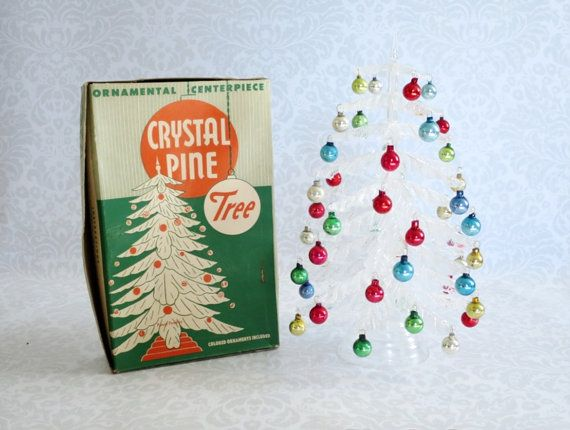 A Vintage Tabletop Or Mini Plastic Christmas Tree Made By The
