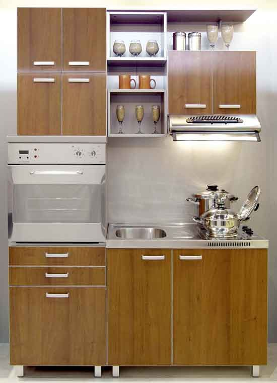 delightful Built In Cupboards Designs For Small Kitchens #8: Modern Small Kitchen Inspiration