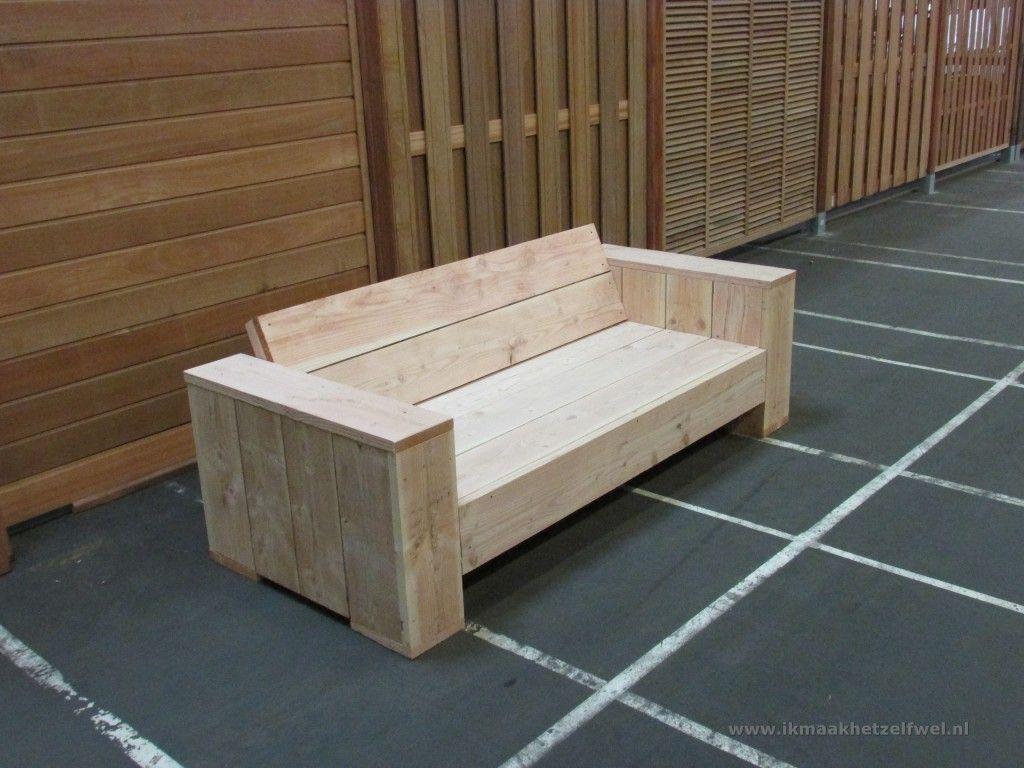 Bouwtekening loungebank steigerhout bangku pallet