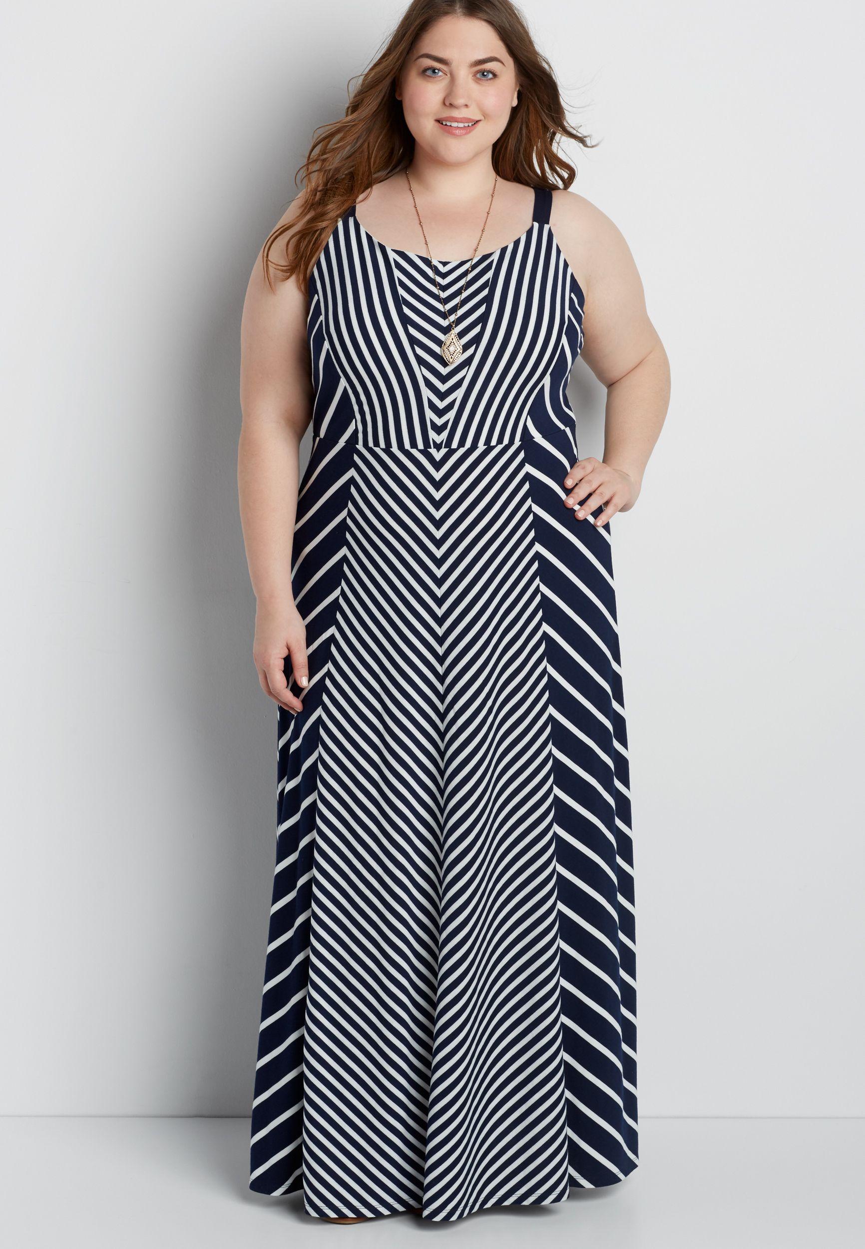828012220e7 plus size striped maxi dress (original price