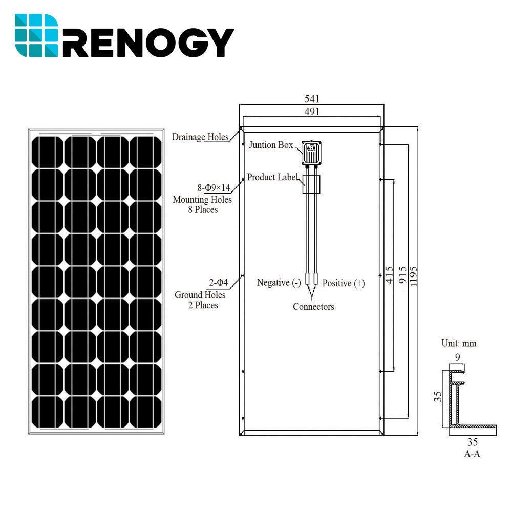 100 Watt 12v Mono Solar Panel Top Pinterest Simple Aa Battery Charger Circuit