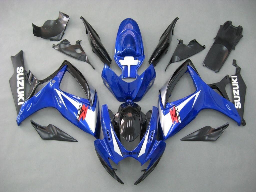 Fairings suzuki gsxr 600 750 blue black gsxr racing 2006 2007 suzuki motorcyclemotorcycle partsgsxr