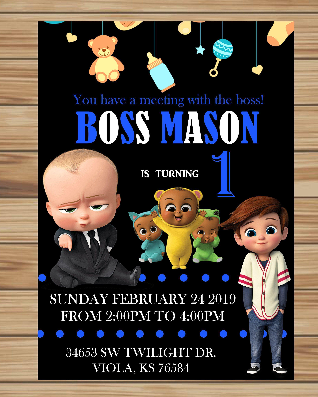 Boss Baby Birthday Invitation By JessDesigns14 On Etsy