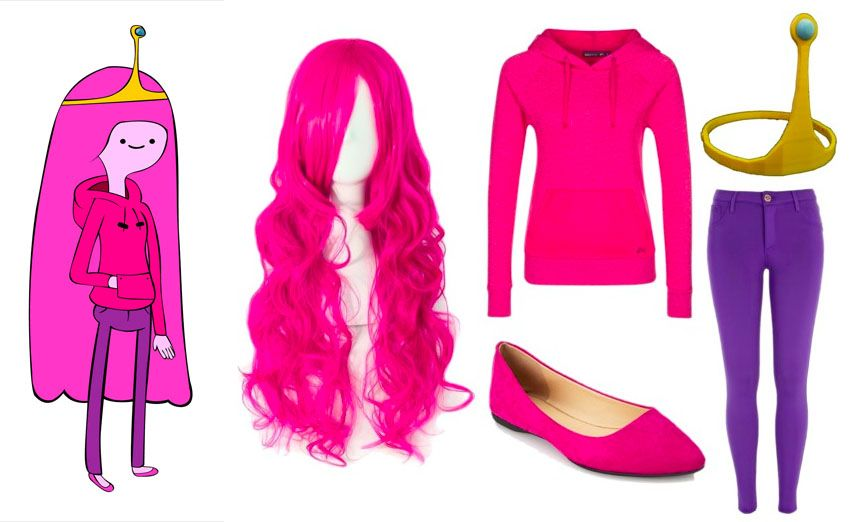 Easy Princess Bubblegum Halloween Cosplay Costume Get The Look And More Costume Ideas On Wro Easy Cosplay Costumes Cosplay Outfits Princess Bubblegum Costumes