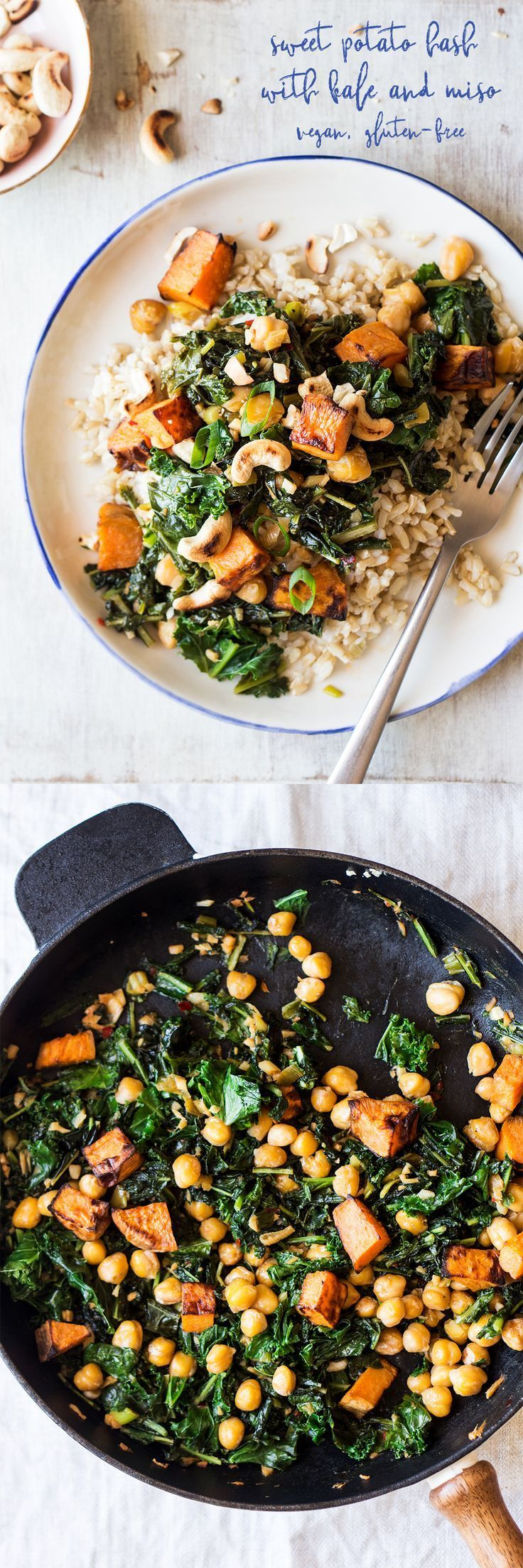 Sweet Potato Hash With Kale And Miso