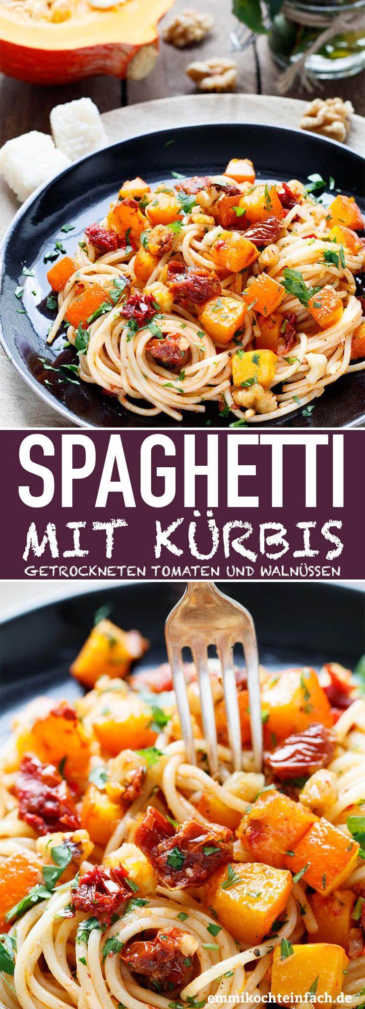 Pasta mit Kürbis - schnell und einfach gemacht #zucchininoodles