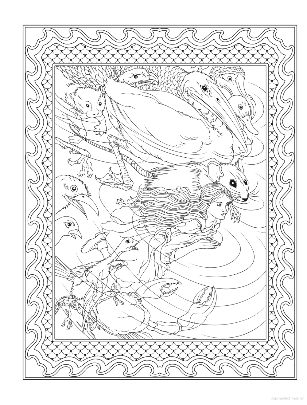 Alice S Nightmare In Wonderland Coloring Book Pg 4 Partly Finished Art Painting Coloring Books