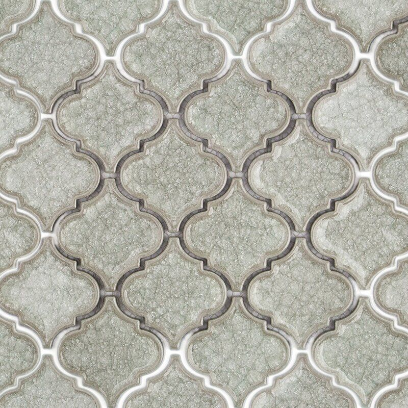 Roman Selection Glass Mosaic Tile In Cream Arabesque Tile Arabesque Mosaic Glass
