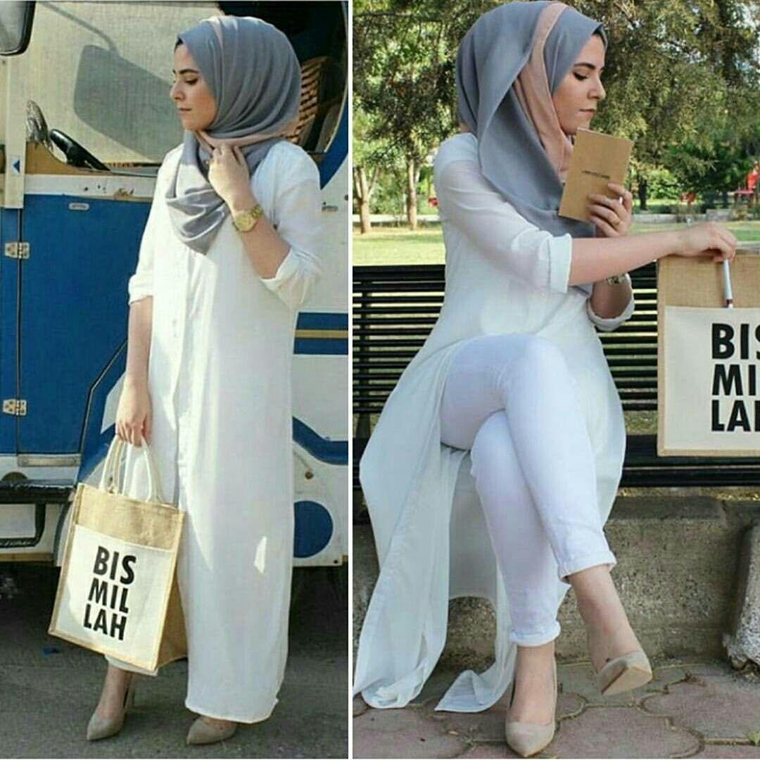 OOTD + Bag #bismilah | Hijab fashion, Hijab outfit, Muslim ...