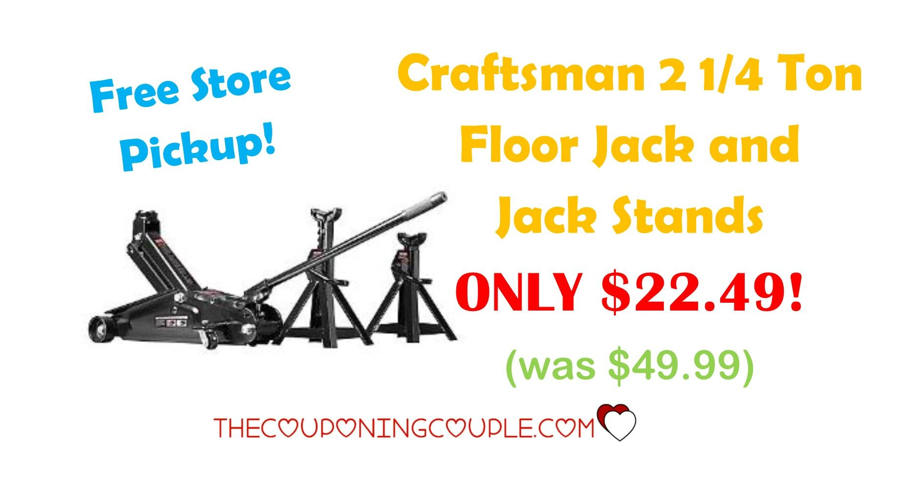 Craftsman 2 1/4 Ton Floor Jack and Jack Stands ONLY 22.49