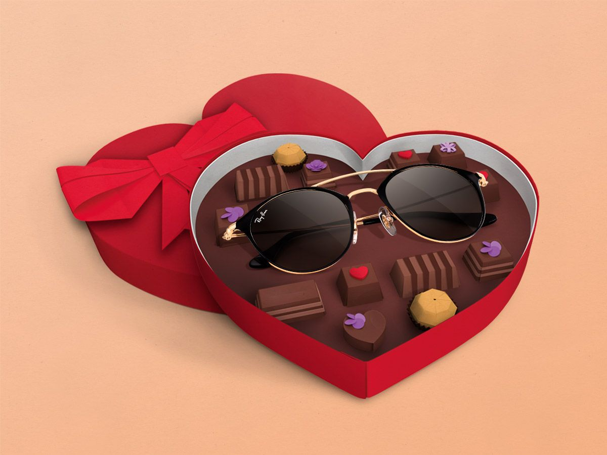 6094141ee3 Ray-Ban sunglasses are a super sweet gift without all the calories. Happy  Valentines Day.