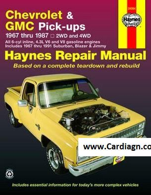 1967 1987 Chevrolet Gmc Pick Ups Haynes Repair Manual Repair