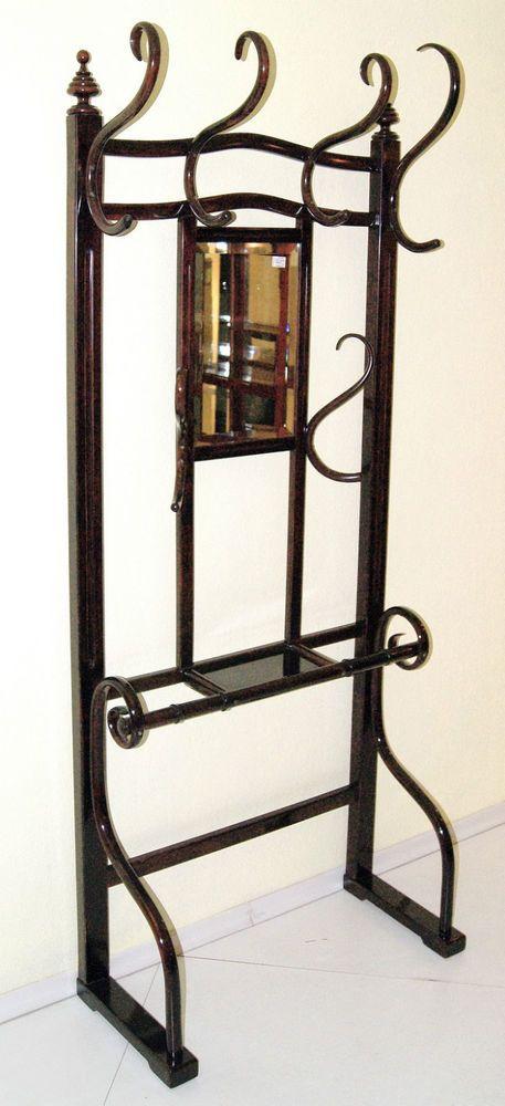 kohn jugendstil wand garderobe thonet art nouveau coat rack mnr 1086 um 1905 in antiquit ten. Black Bedroom Furniture Sets. Home Design Ideas
