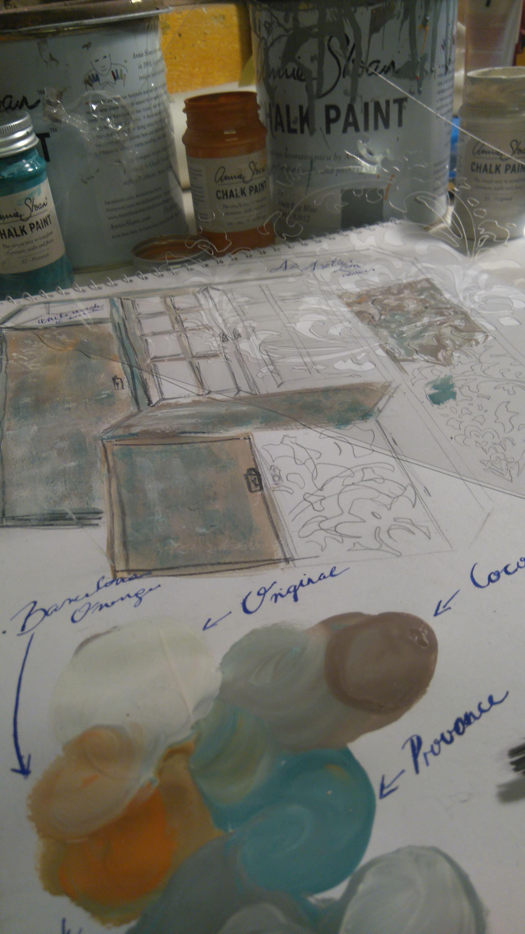 Annie Sloan Chalk Paint, Provence, Coco, Barcelona Orange, Original, Stencil,