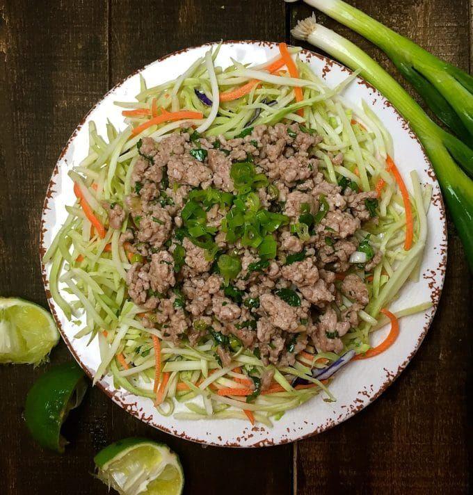 asian Low salad calorie