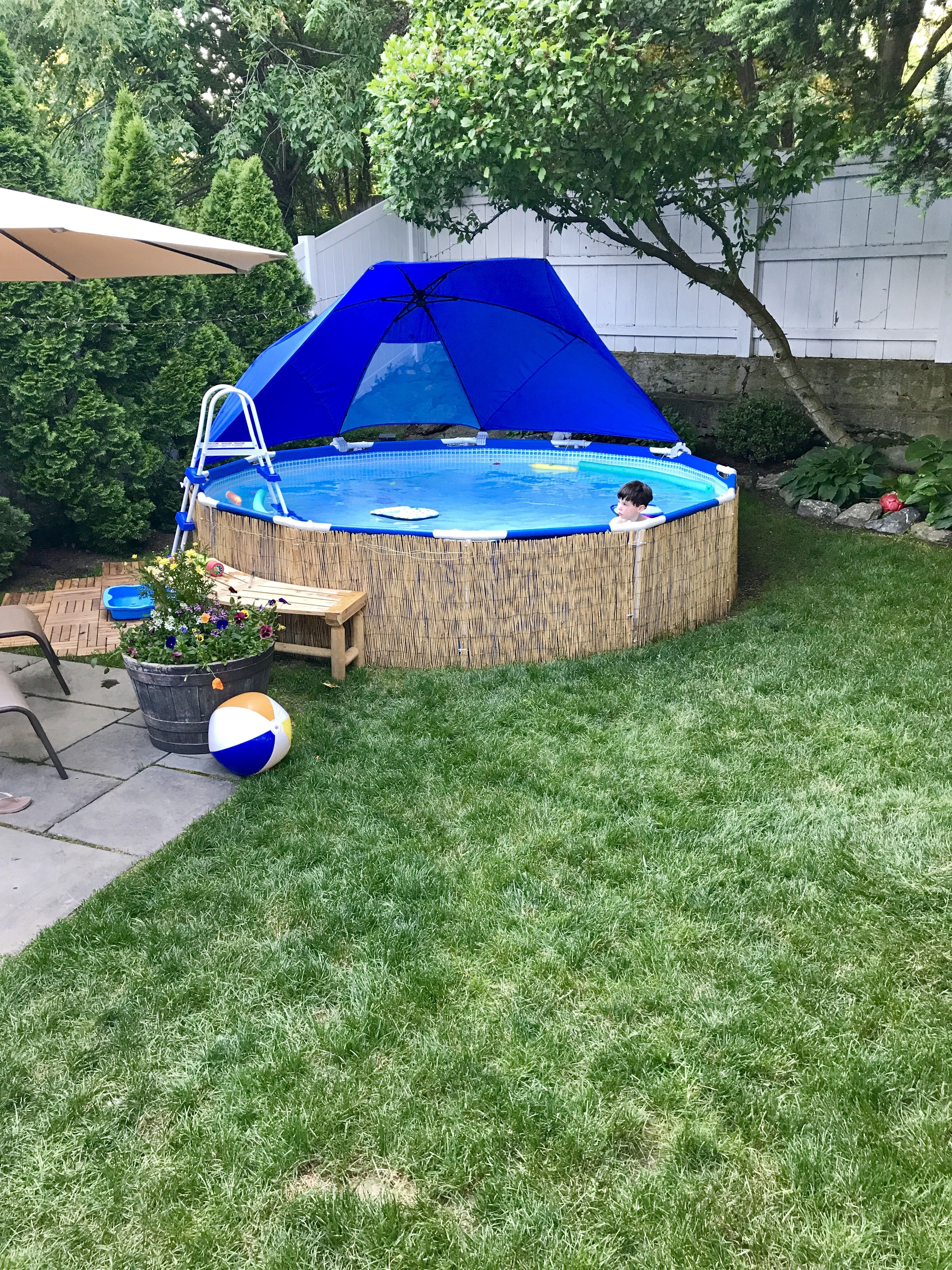 Intex Pool Nicht Rund Intex Pool 12x30 Bck Yard In 2019 Pool Landscaping Above