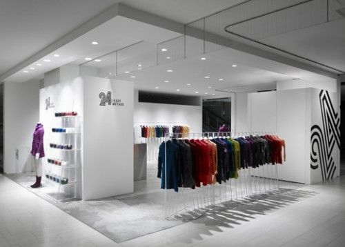 white glossy play fashion shop interior design Retail Shops