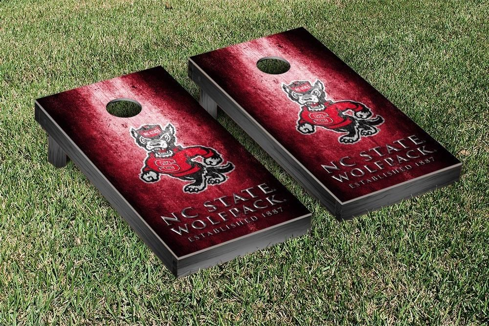 Rustic Metal Style NC State Wolfpack Bag Toss Game