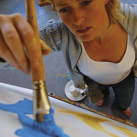 Apprendre la peinture acrylique en 5 étapes Lu0027atelier Canson - pose papier a peindre
