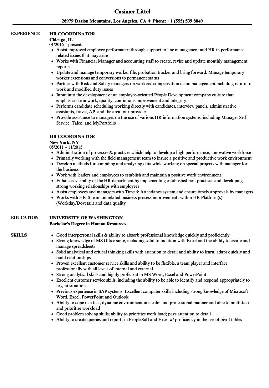 The Awesome Hr Coordinator Resume Samples Velvet Jobs Intended For Sample Hr Audit Report Template P In 2020 Resume Social Media Coordinator Medical Assistant Resume