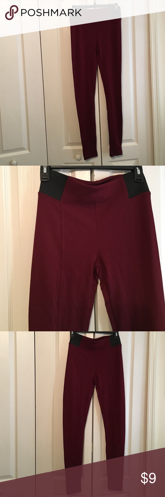 Forever 21 Burgundy Leggings Size Small NWT Forever 21 Leggings Forever 21 Pants Leggings